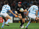 England's James Haskell charges at the Pumas defence