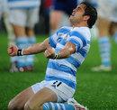 Juan Manuel Leguizamon celebrates Argentina's victory