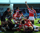 Japan celebrate after Shota Horie touches down