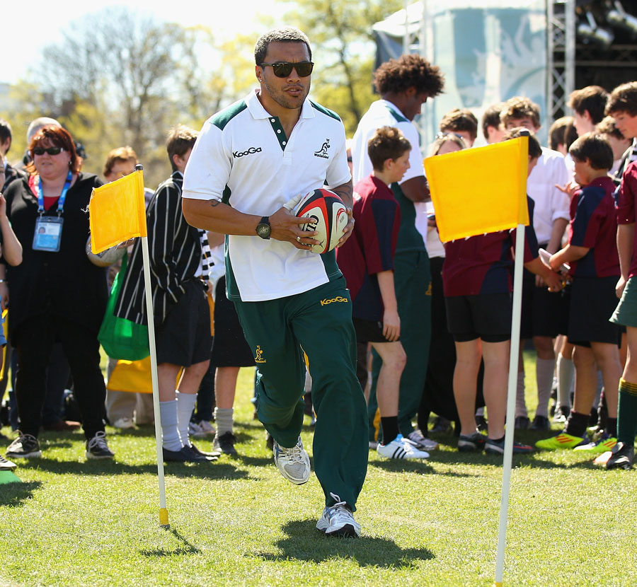 Wallabies wing Digby Ioane proves just how effortlessly quick he is