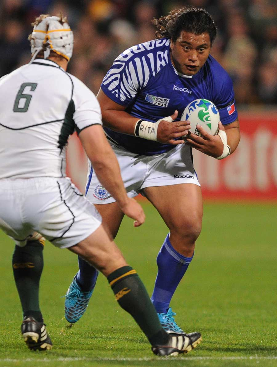 Samoa's Cencus Johnston looks to make his mark on the match