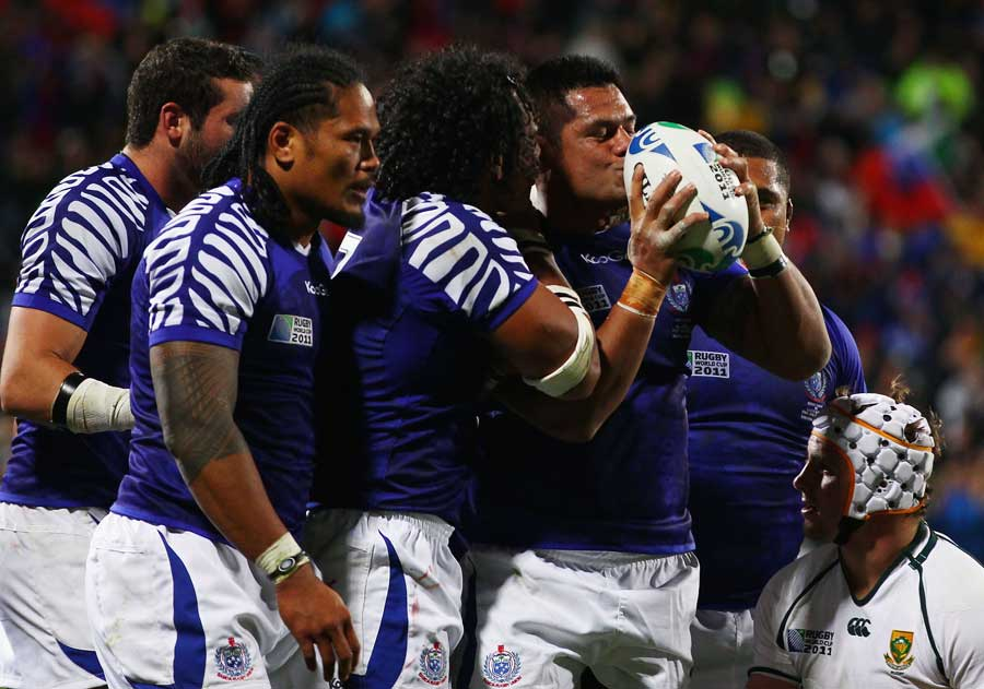 Samoa's George Stowers revels in the moment
