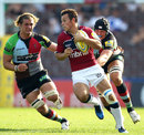 Sale's Rob Miller tries to evade Harlequins tacklers