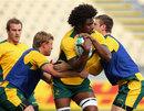 Australia's Radicke Samo carries the ball in training