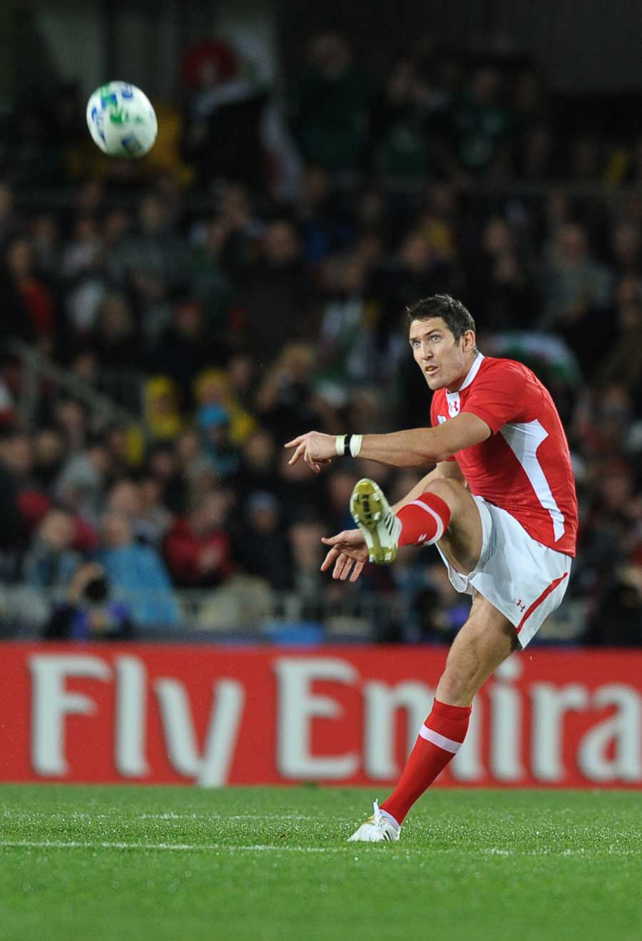 Wales fly-half James Hook lands an early penalty