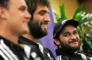 All Blacks scrum-half Piri Weepu faces the media