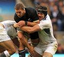 England's Tom Palmer shackles New Zealand's Kieran Read