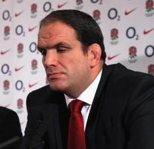 Former England manager Martin Johnson announces his resignation at Twickenham