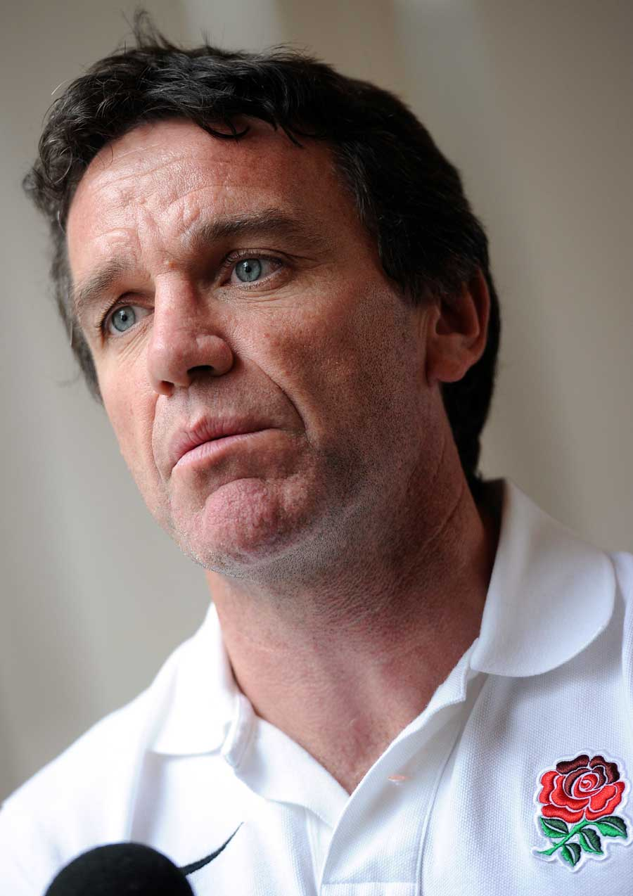 England's Mike Ford addresses journalists