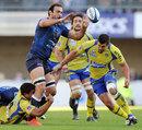 Montpellier flanker Mamuka Gorgodze offloads under pressure