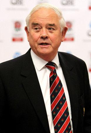 Rugby Football Union president Willie Wildash, Presidents XV Awards press conference, Twickenham, England, November 1, 2011