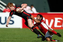 Canada's Philip Mack tries to tackle Wales' Rhys Patchel