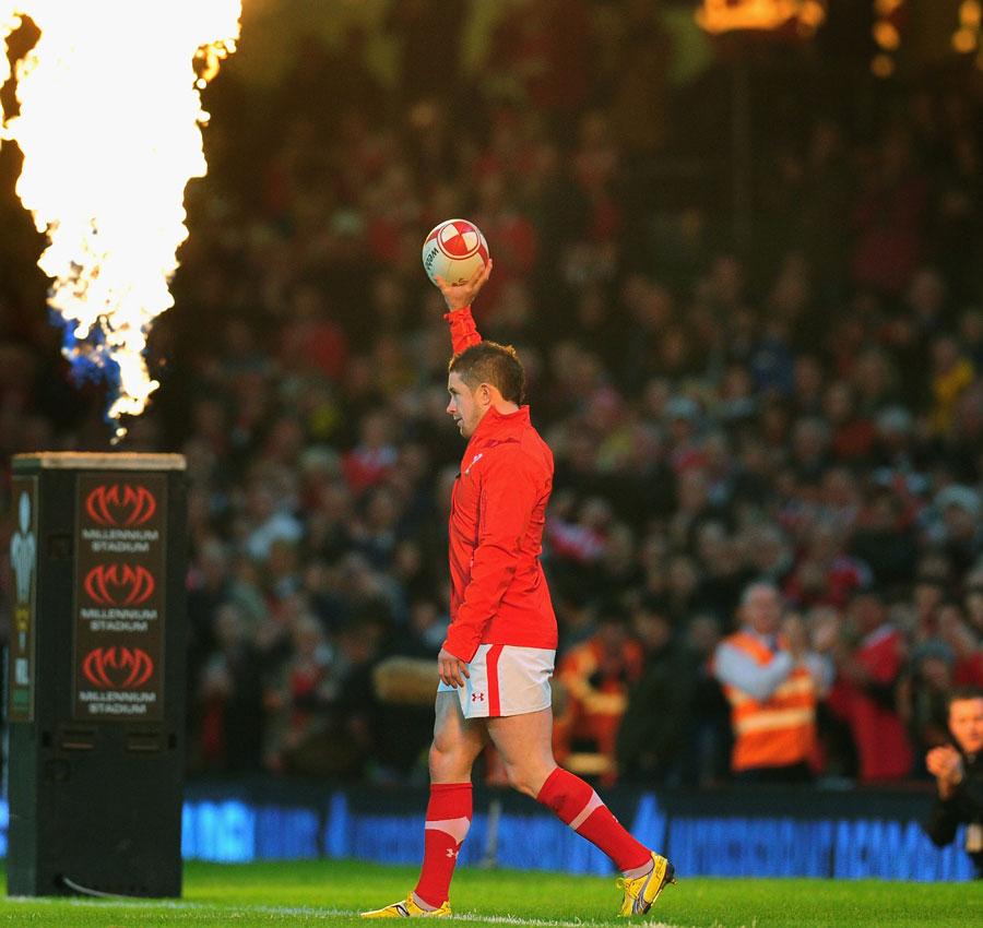 Wales' Shane Williams salutes the Millennium Stadium crowd