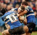 Leinster's Jamie Heaslip charges forward