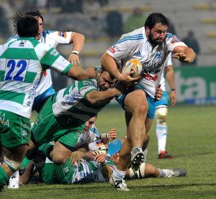 Aironi's Alberto De Marchi storms forward, Aironi v Treviso, RaboDirect PRO12, Stadio Luigi Zaffanella, Viadana, Italy, December 23, 2011