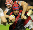 Ulster's Dan Tuohy tackles Edinburgh's Netani Talei