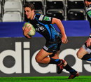 Ospreys centre Ashley Beck crosses for a try