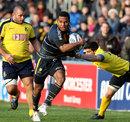 Worcester's Josh Drauniniu bursts down the wing