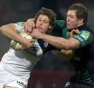 Toulouse's Luke Burgess breaks away from Connacht's Michael Swift