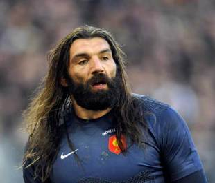 Sebastien Chabal during France's win over the Pacific Islands at the Stade Bonal, November 15 2008
