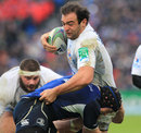 Montpellier's Mamuka Gorgodze braces himself for the hit