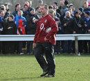 England boss Stuart Lancaster casts an eye over training