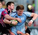 Gloucester's Henry Trinder struggles to halt Cardiff's Macauley Cook