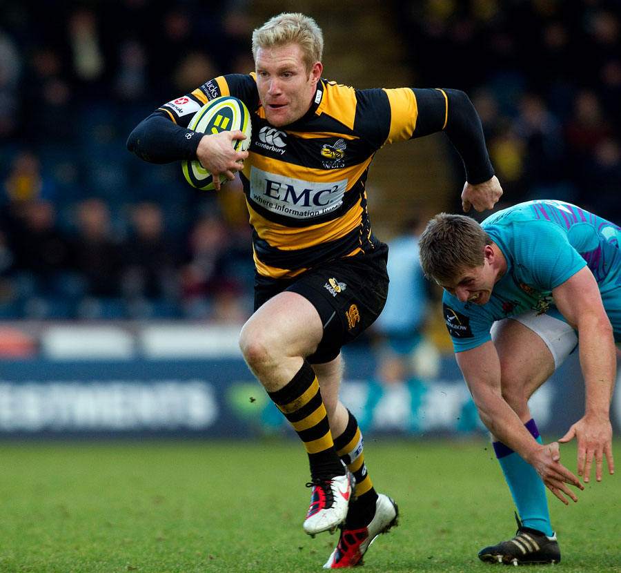 London Wasps winger Charlie Ingall surges clear