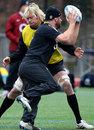 England's Mouritz Botha tackles team-mate Rob Webber