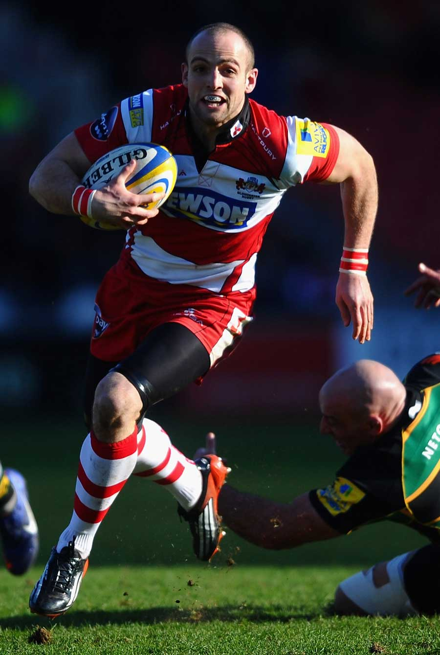 Gloucester's Charlie Sharples on the charge