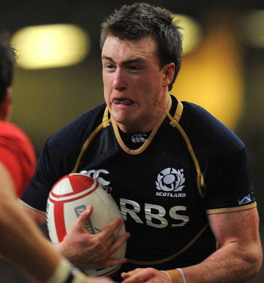 Stuart Hogg prepares to take the hit