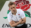 England captain Chris Robshaw poses at Twickenham