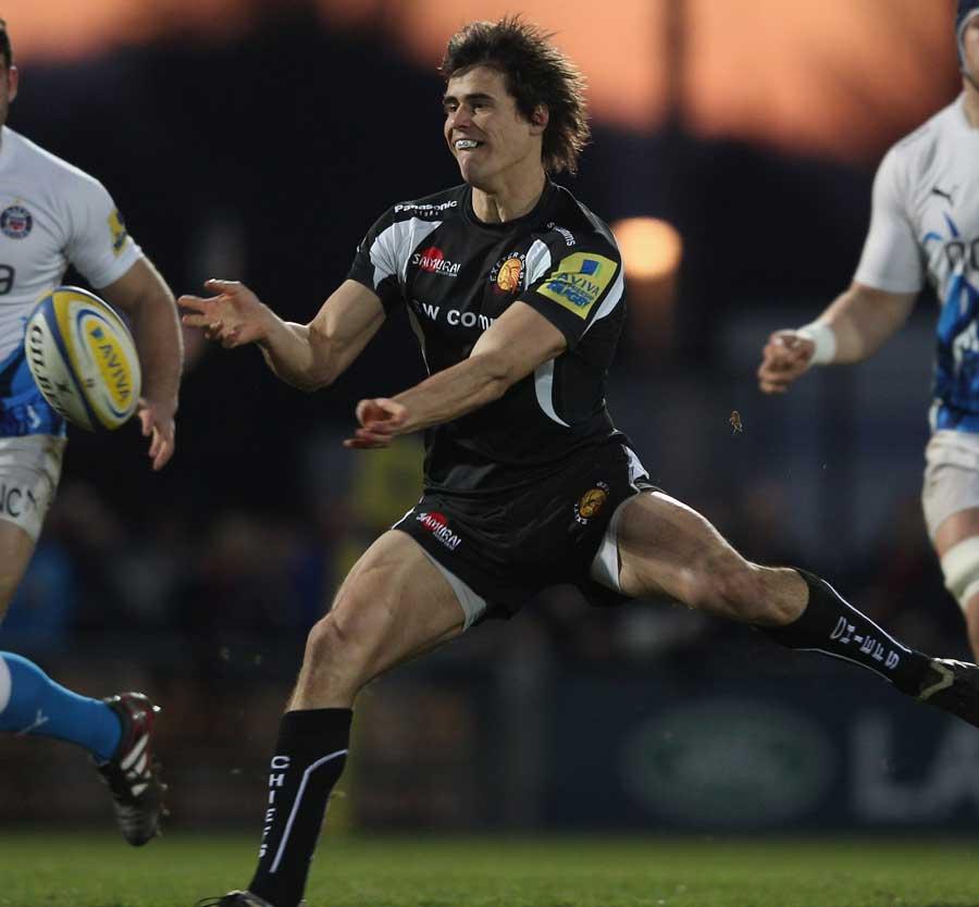 Exeter's Ignacio Mieres moves to unleash his backs