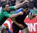 France's Wesley Fofana evades Ireland's Rob Kearney