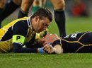 Scotland's Lee Jones receives treatment