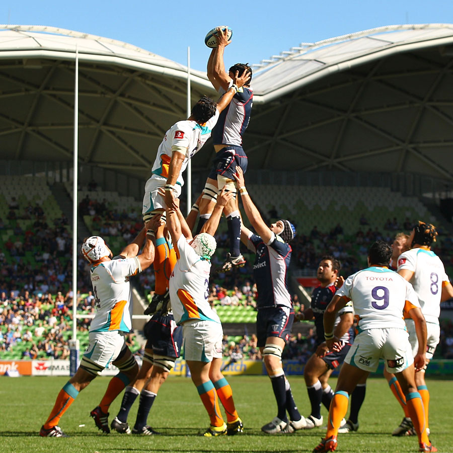 The Rebels Tim Davidson Claims A Lineout Rugby Union