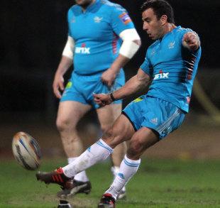 Aironi's Luciano Orquera kicks for goal