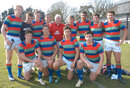 Former Millfield player Gareth Edwards poses with the school's current side