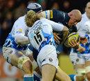 Sale's Joe Ward takes on the Bath defence