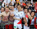 Ulster's Ruan Pienaar celebrates with some fans