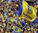 Clermont Auvergne fans add a splash of colour