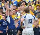 Leinster No.8 Jamie Heaslip celebrates victory