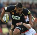 Wasps' Billy Vunipola strides forward against Newcastle