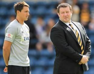 Rob Hoadley alongside Dai Young, Adams Park, September 11, 2011