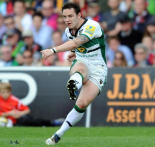 Northampton's Ryan Lamb kicks for goal