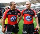 Toulon's Jonny Wilkinson and Matt Giteau are all smiles