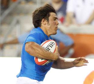 Edoardo Gori races away to score