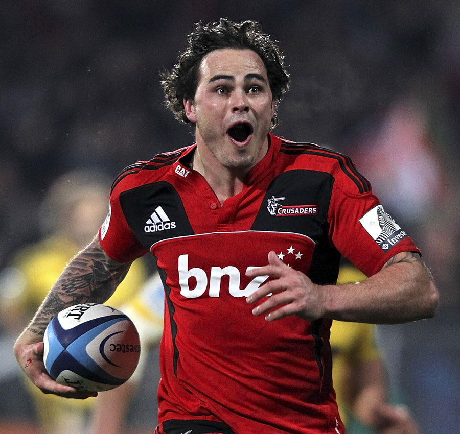 Crusaders wing Zac Guildford races clear to score