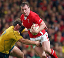 Wales' Matthew Rees works an opening