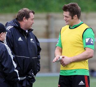 All Blacks head coach Steve Hansen and captain Richie McCaw